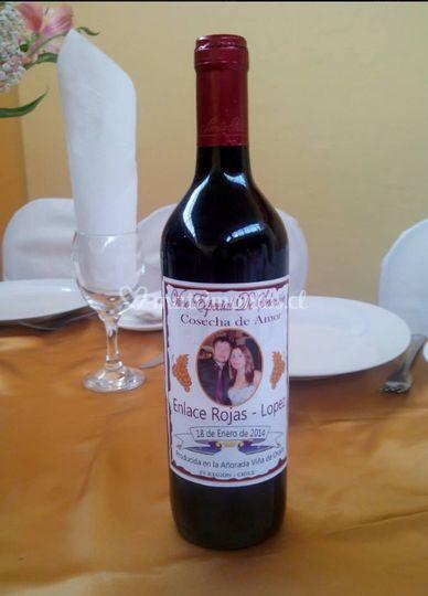 Etiqueta personalizada para el vino