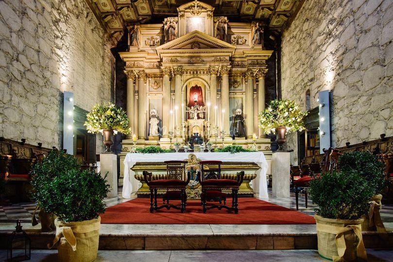 Decoración altar iglesia san francisco