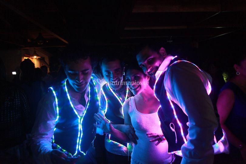 Iluminación en la fiesta