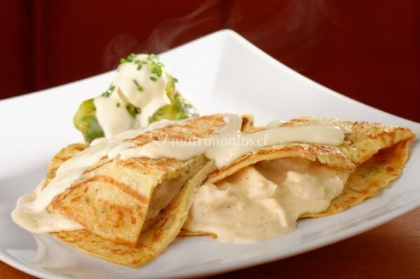 Crepes Pollo - queso