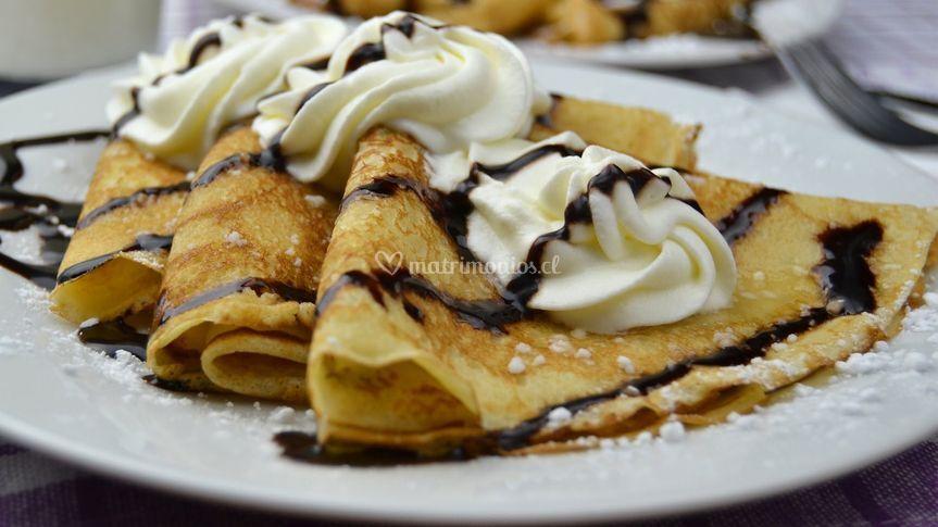 Crepes Crema Plátano- Nuttella