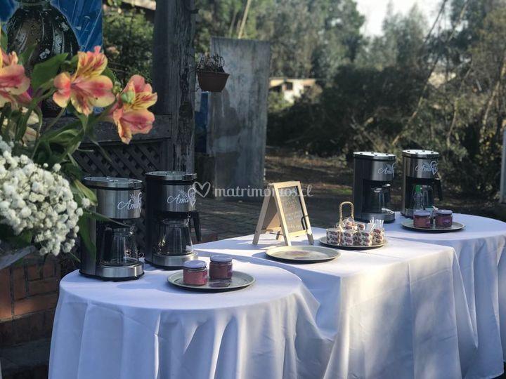 Estación de té matrimonio