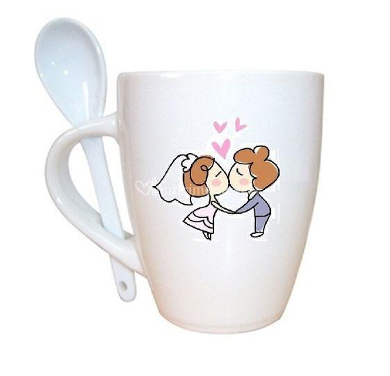 Mug con cuchara diseño color