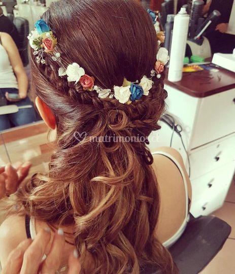 Coronas de flores de papel
