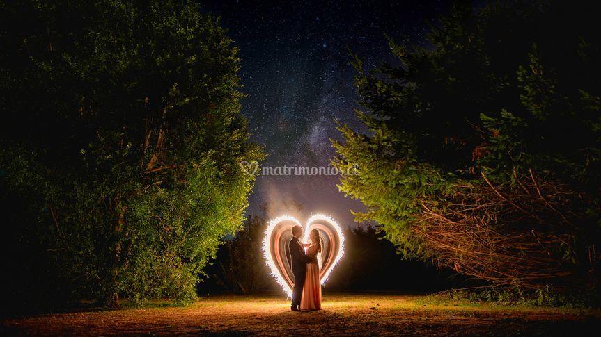 Románticos bajo las estrellas