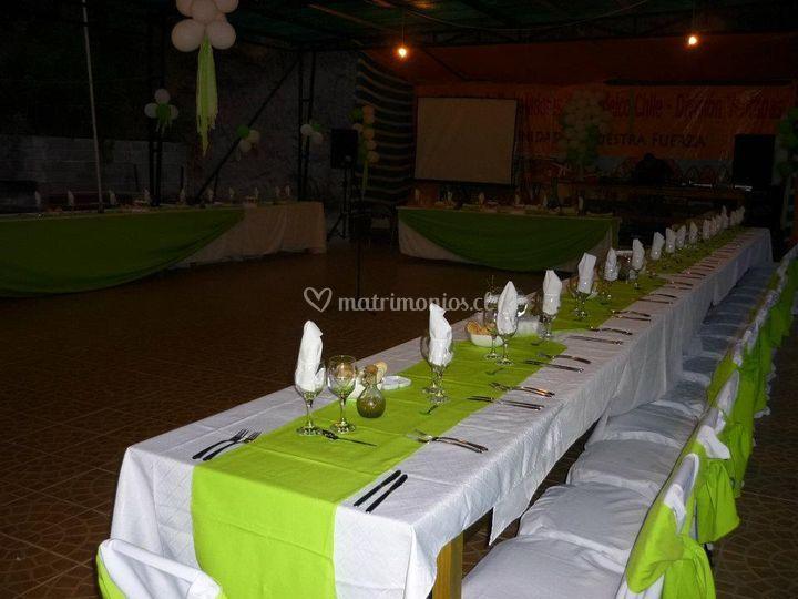 Preparación del banquete