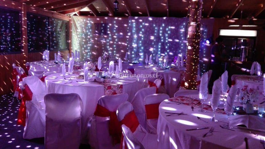 Salón iluminado