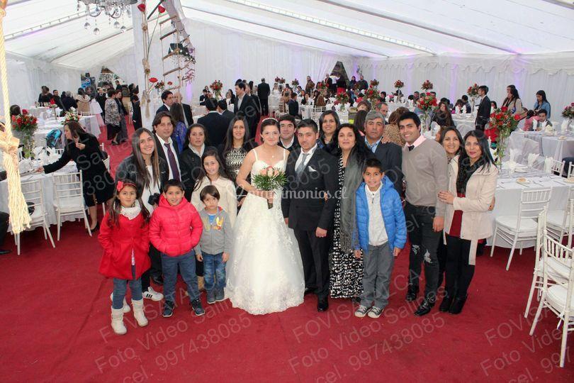 Junto a la familia