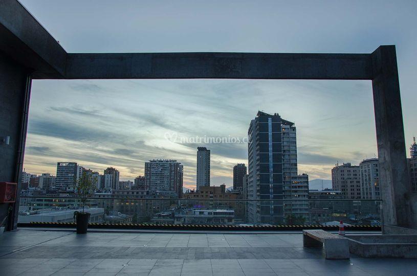 Terraza exterior con vistas