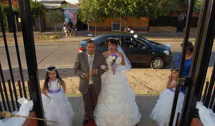 Llegada de la novia a la iglesia