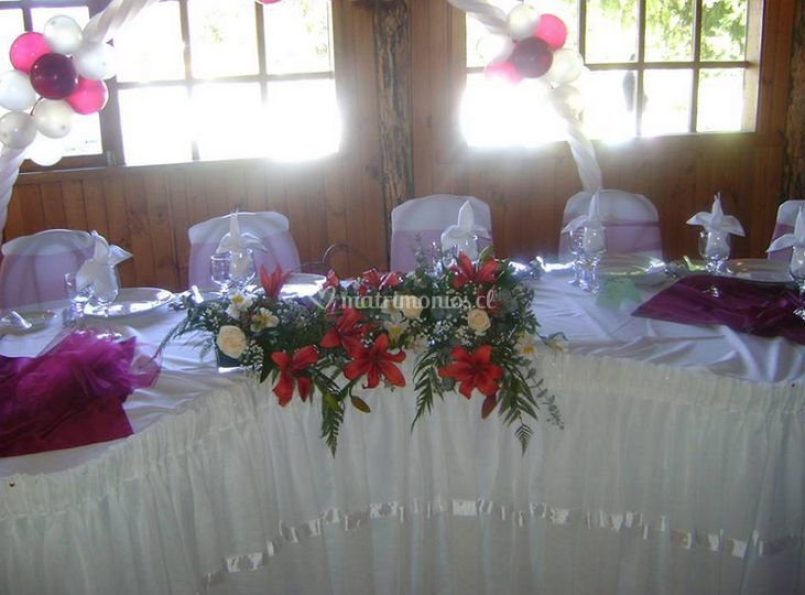 Decoración mesa principal