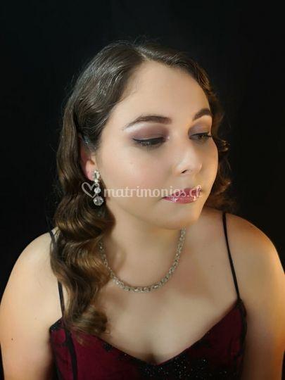 Maquillaje y peinado evento