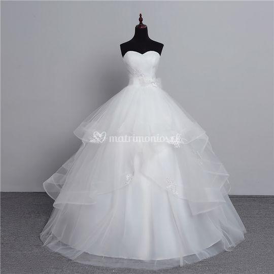 Vestido de novia en tull