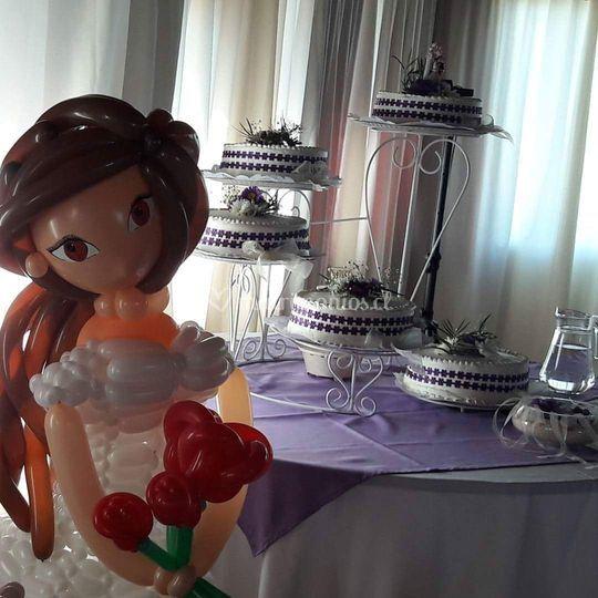 La novia, versión globos