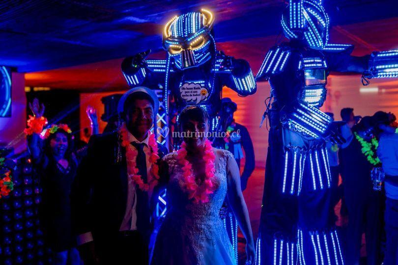 Show robot led iquique