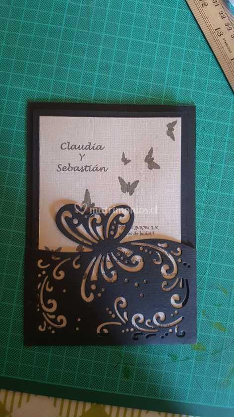 Invitación Mariposa De Tarjetas Y Papeles Jo Foto 2