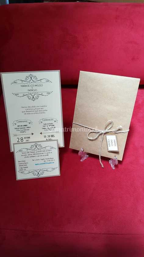Invitación Vintage De Tarjetas Y Papeles Jo Foto 20