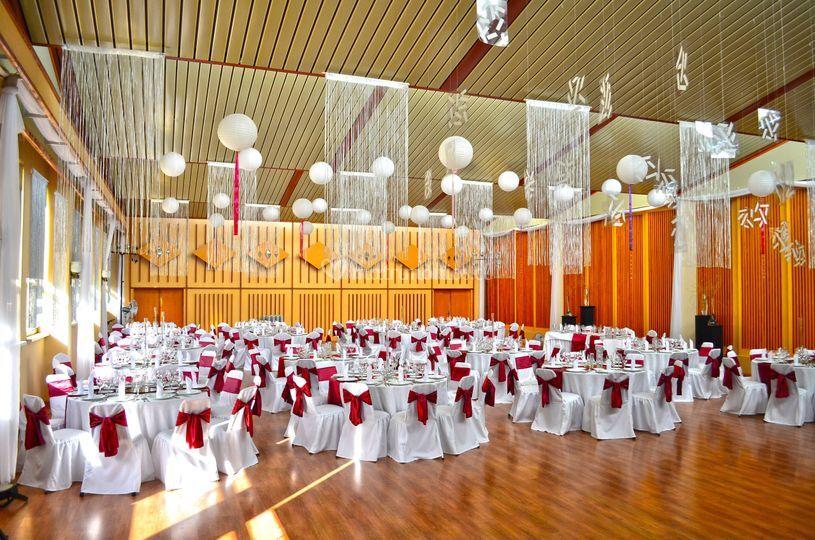 Interior salón de eventos