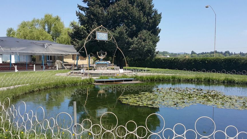 Laguna del loto junto al reloj