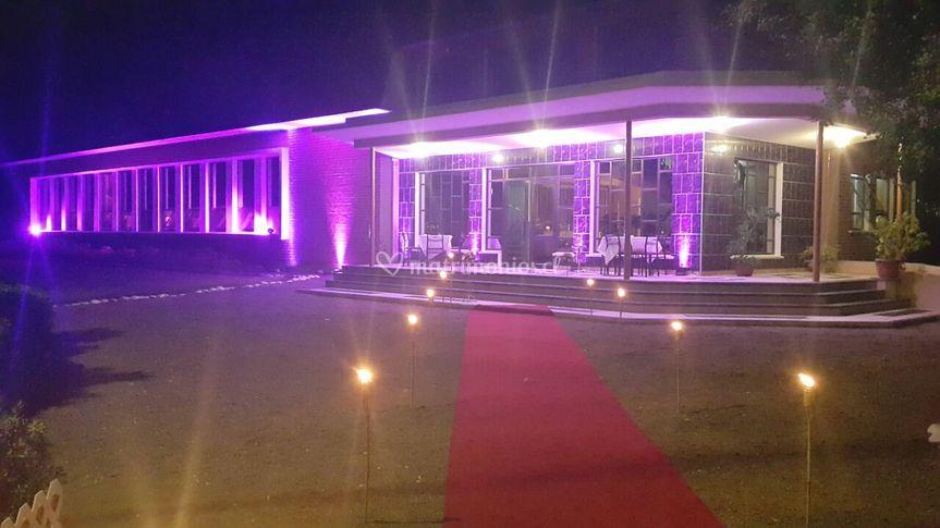 Salón de eventos nocturno