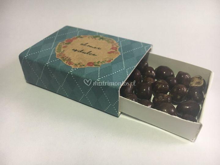 Cajitas tipo fósforos dulces