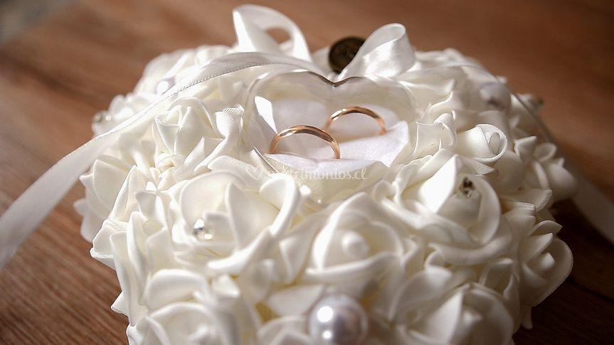 Los anillos de Karina y Víctor