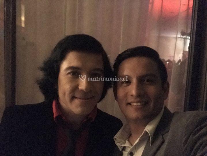 Junto a Marcelo Jiménez