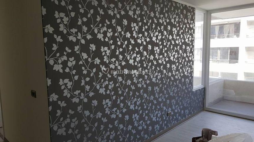 Muro empapelado