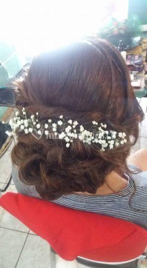 Delicado peinado para novia