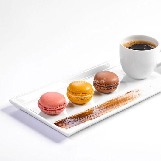 Café Gourmand, con macarrons