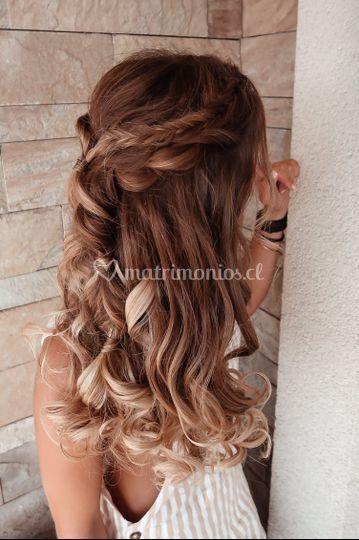 Peinado boho