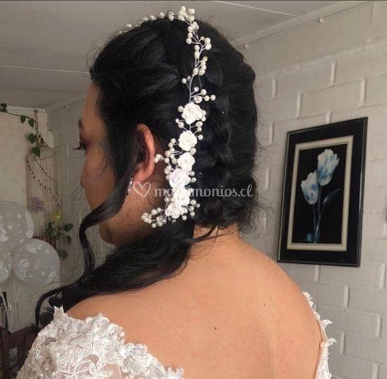 Peinado novia carito