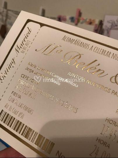 Invitación matrimonio folia