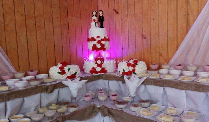 Mesa para pastel de boda