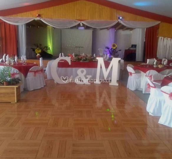 Salón decorado