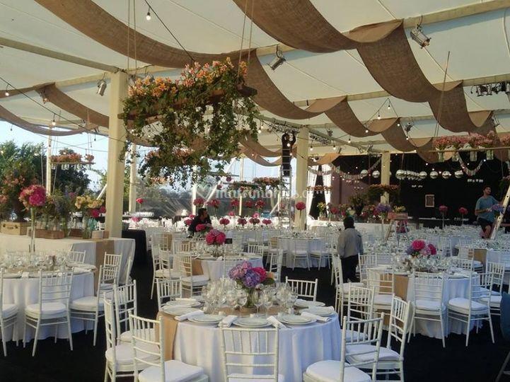 Preciosas carpas para boda