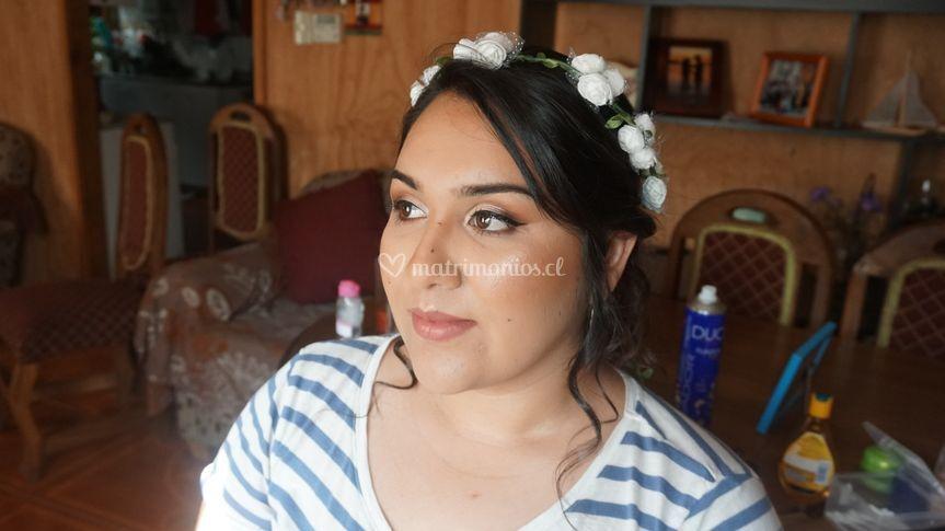 Prueba de peinado y maquillaje