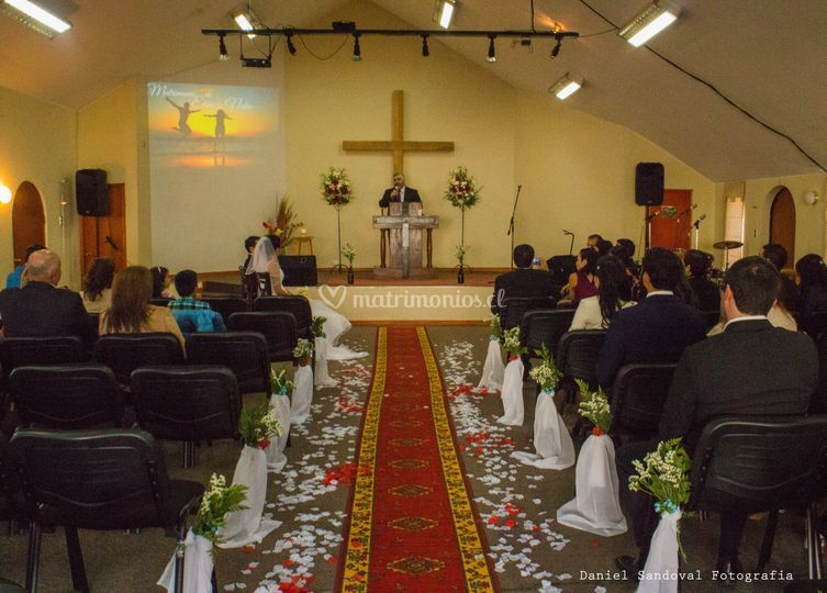 Iglesia lista para el matrimon