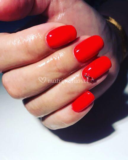 Rojo + cristales Swarovsky