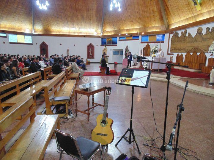 Boda iglesia santa ana en talca