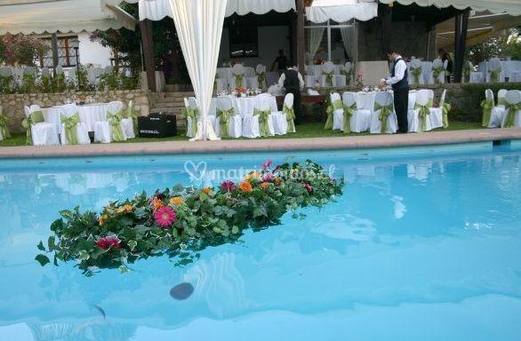 Decoración de la piscina