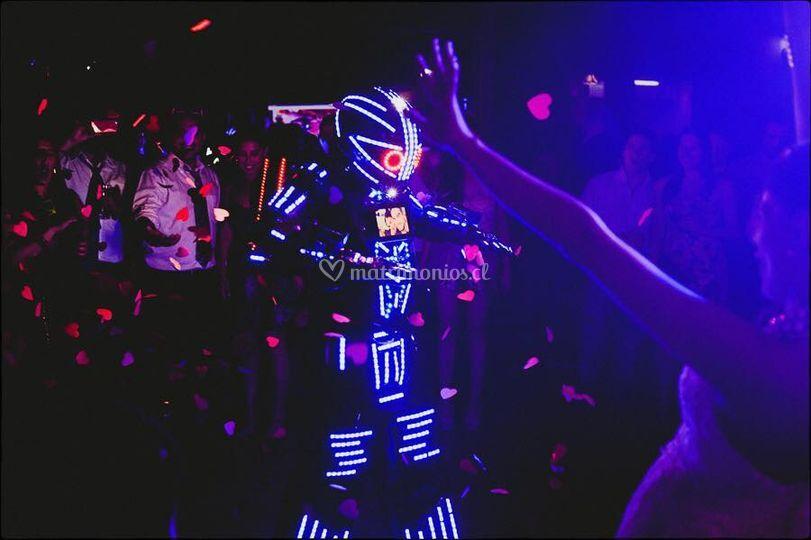 Show robot Led en chile