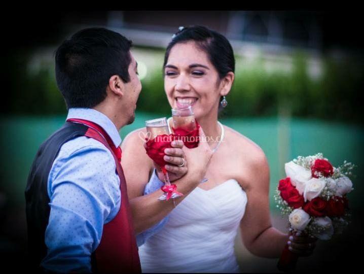 Copas y ramo para la boda