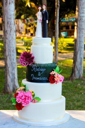 Chalkboard Cake Spring
