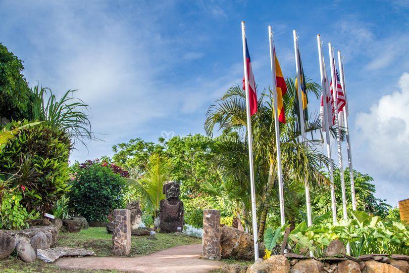 Entrada de Hotel Rapa Nui
