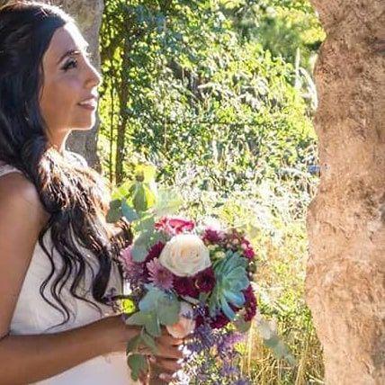 Ramo de novia con suculenta