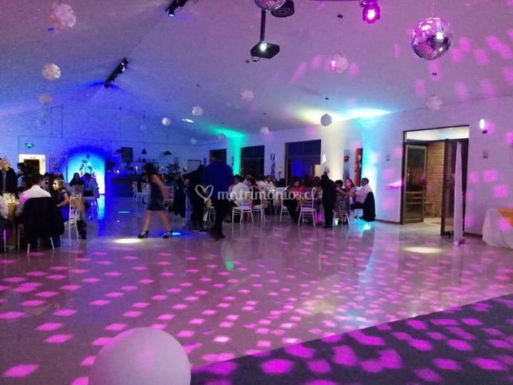 Iluminación pista baile