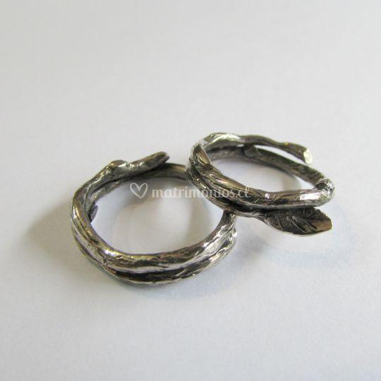 Argollas orgánicas plata