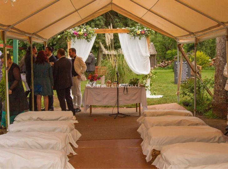 Ceremonia a cubierto