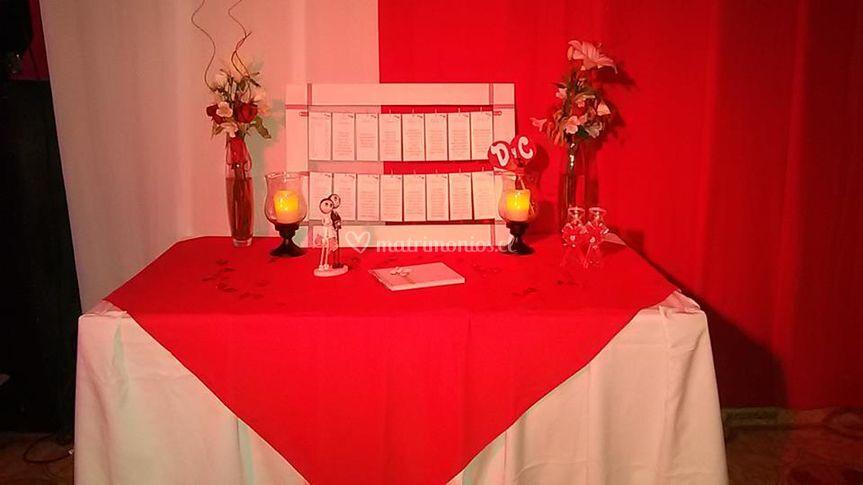 Mesa de bienvenida